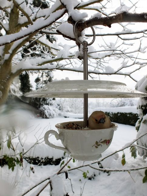 vogelhaus winter gartendeko pinterest vogelh user winter und vogelfutter. Black Bedroom Furniture Sets. Home Design Ideas