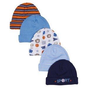 Gerber  Newborn Boys  5 Pack Sports Hats 0-6 M  358009966b2a