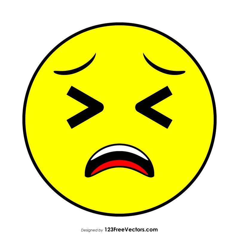 Tired Face Emoji Clipart Emoji Clipart Emoji Clip Art