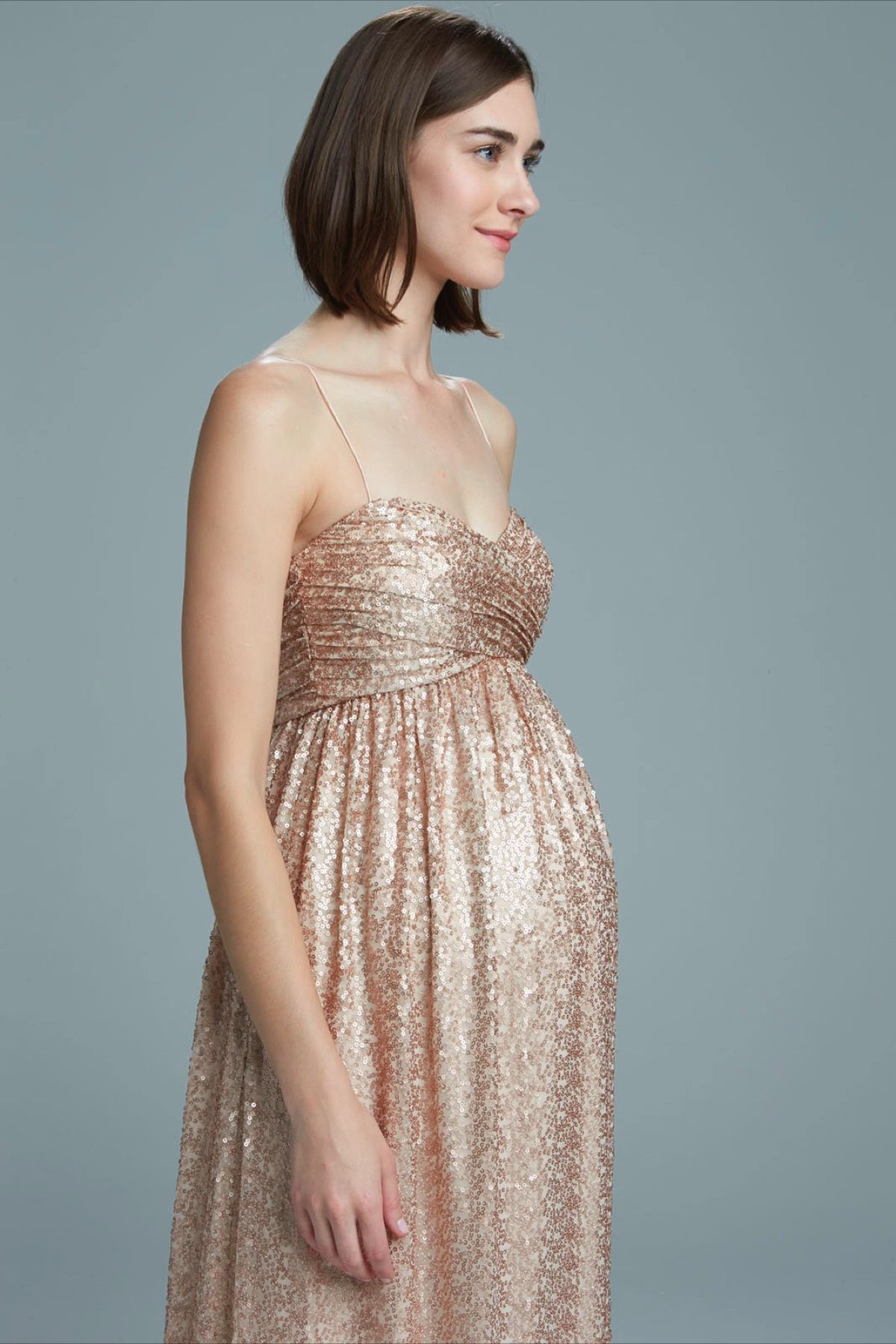 Style Sade. Amsale | Maternity bridesmaid dresses, Neckline and Rose