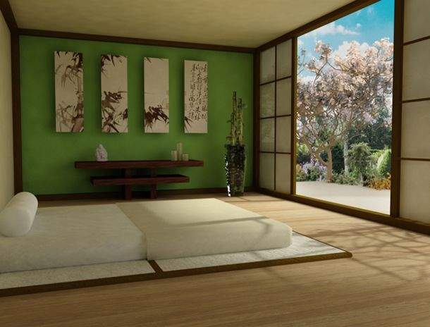 slaapkamer » slaapkamer inrichten japanse stijl - inspirerende, Deco ideeën