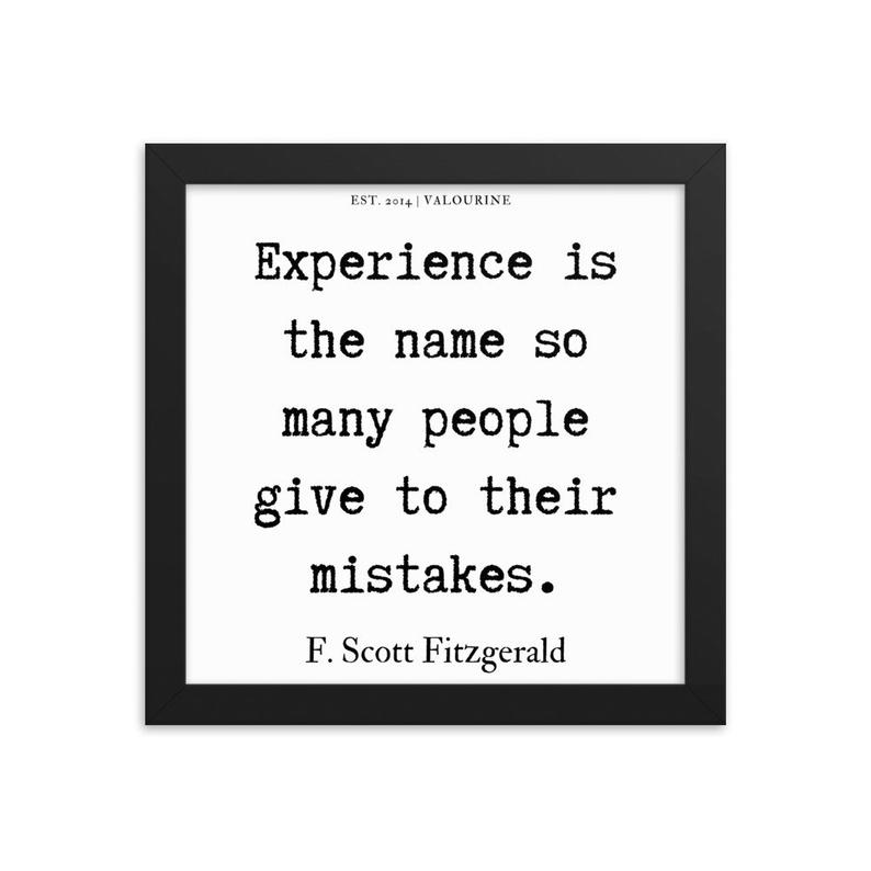 90  | Framed poster   | F.Scott Fitzgerald Quote | 191212 #philosophicalquotes