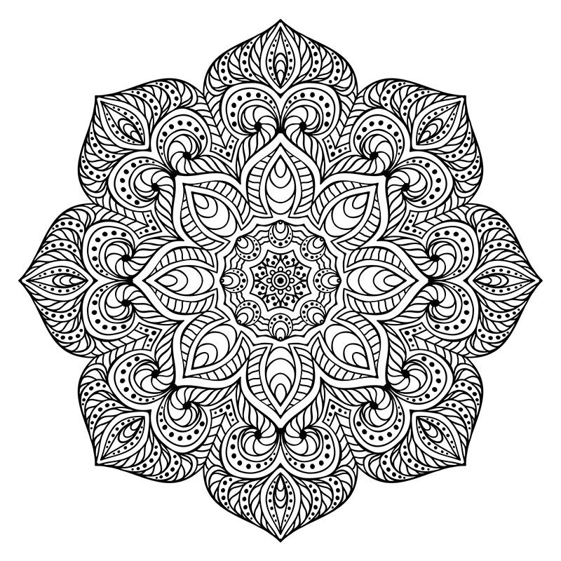 mandala coloring for stress relief