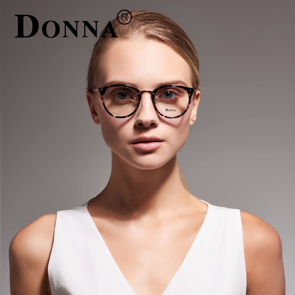 6ee04a08fb DONNA Stylish Clear Lens Glasses Samll Circle Frame Blue Light Blocking for  Computer DN08