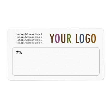 custom mailing shipping labels with company logo business logo cyo
