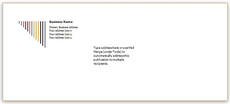 Envelope Template Design for MS Word DOWNLOAD at   www