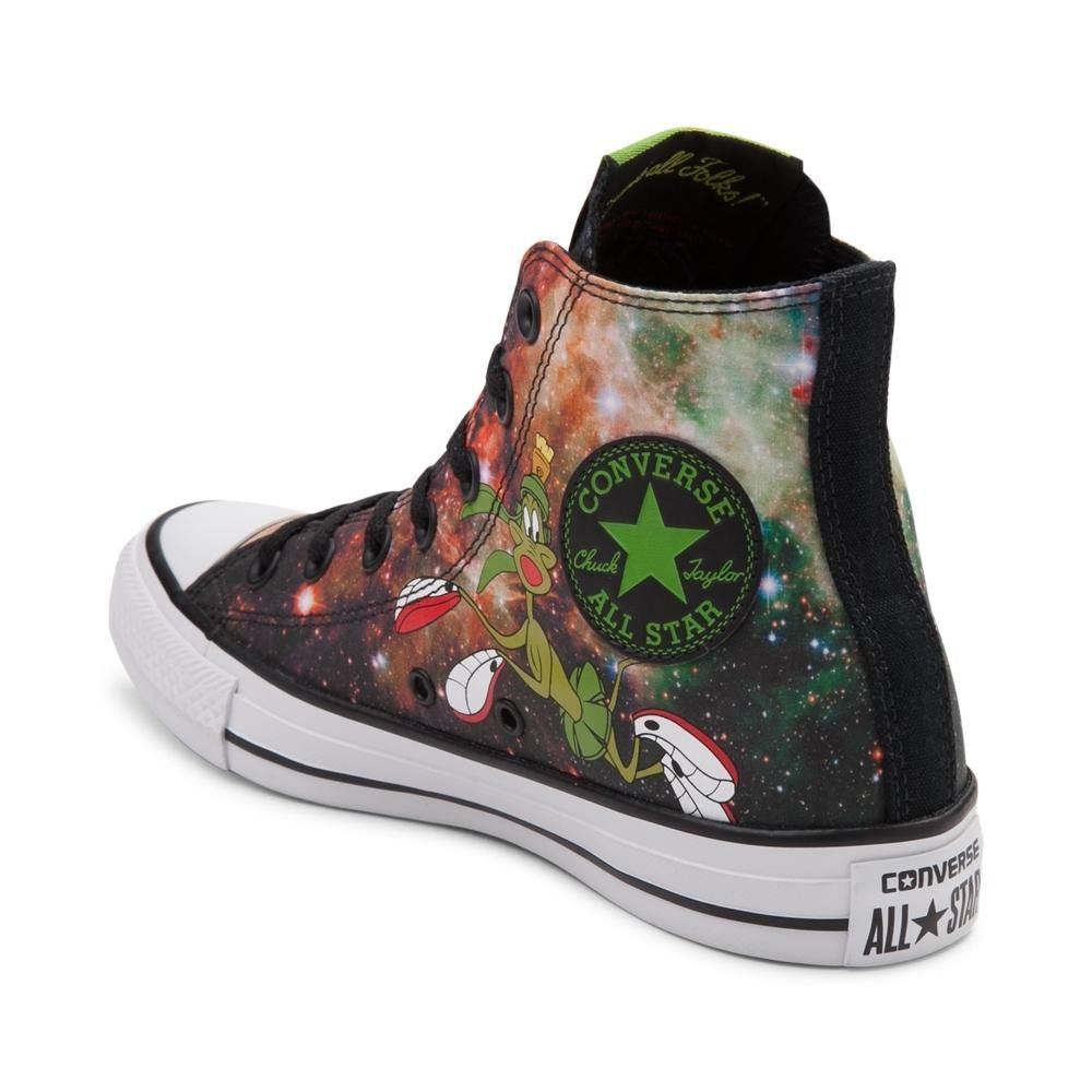 c7f8c4d9102  p Converse presents an Out Of This World addition to it s Looney Tunes  collection! This iconic Chuck Taylor All Star High Top featuring Marvin the  Martian ...