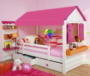 Lit cabane petite cabane lits cabane enfant mobilier enfant s - Lit pour fille de 2 ans ...