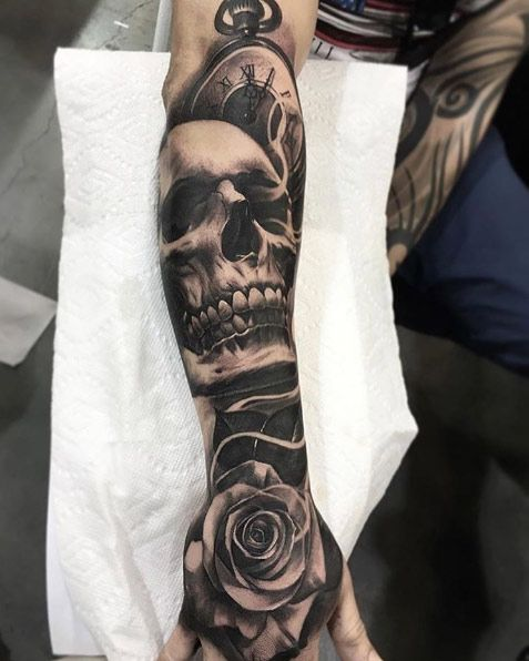 This Year S 60 Most Amazing Tattoo Designs For Men Skull Sleeve Tattoos Sleeve Tattoos Forearm Sleeve Tattoos
