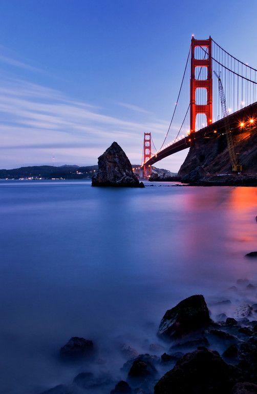 Golden Gate Bridge from Fort Baker, Marin County by - Daniel Pivnick