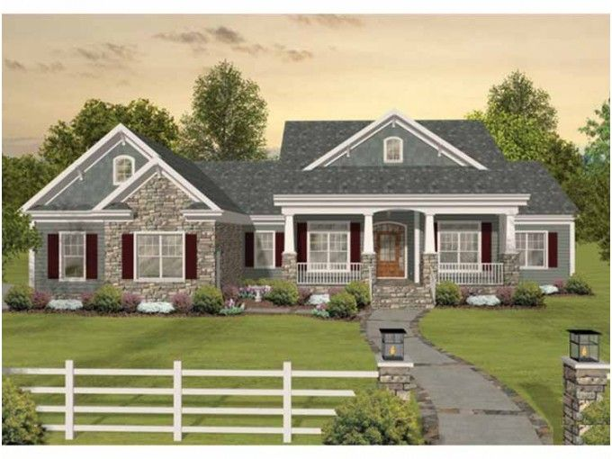 Southern Style House Plan 3 Beds 3 Baths 2156 Sq Ft Plan 56 589 Craftsman House Plans Ranch House Plans Basement House Plans