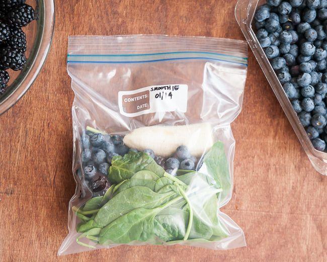 Frozen Green Smoothie System #fruitsmoothie