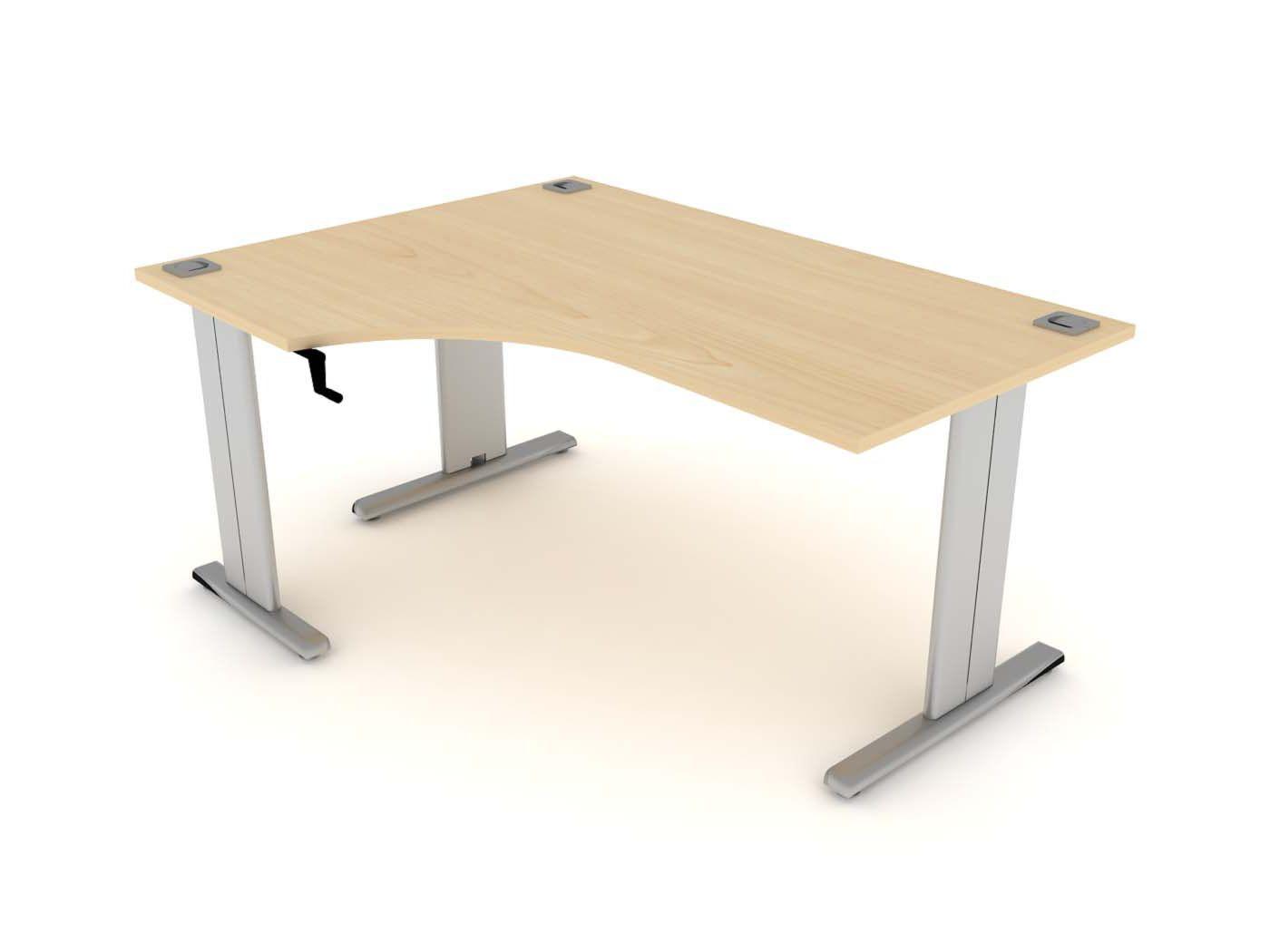 Manual Crescent Height Adjustable Desk Left Hand Adjustable Height Desk Desk Simple House Design
