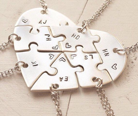 Hand Engraved Heart Puzzle Necklaces Shaped By Inspiredbybronx Friendship Necklaces Bff Necklaces Cute Jewelry