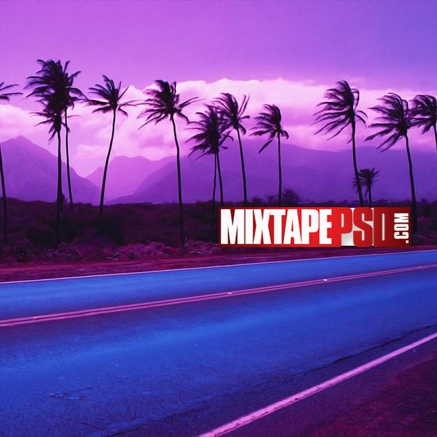 Purple Skyline Road Background Best Graphic Designs Mixtapepsds Background Mixtape Cover Skyline