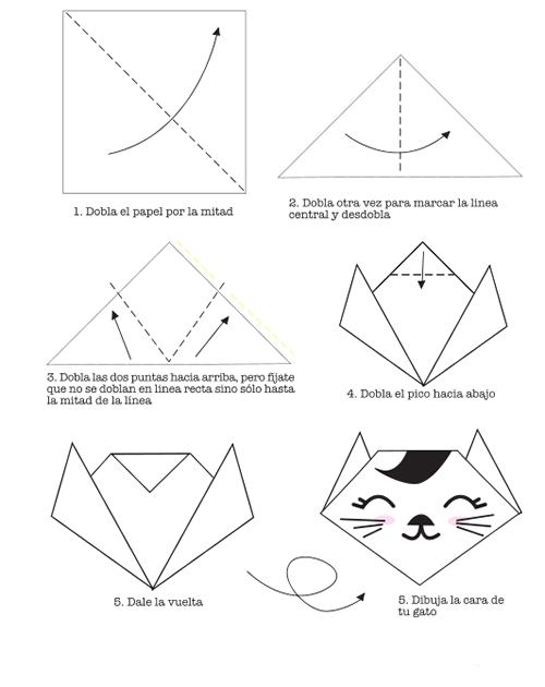 Mi Rincón Artistico: gato de papel En nuestras