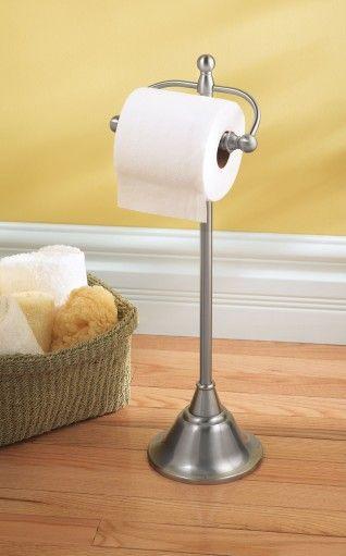 Sage Brushed Nickel Freestanding Paper Holder Dn6850bn Free Standing Toilet Paper Holder Toilet Paper Holder Wall Mounted Toilet