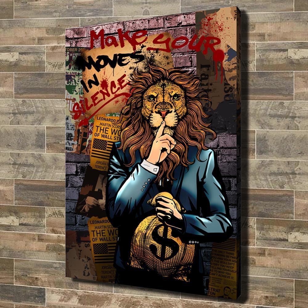 Make Your Moves In Silence In 2020 Graffiti Wall Art Wall Street Art Pop Art Canvas