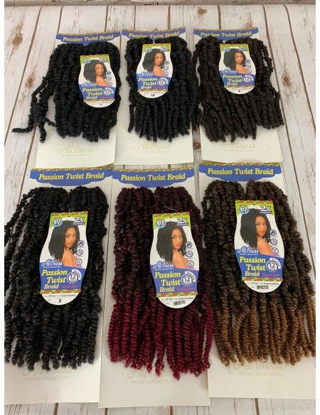 Ali Tress Braid Collection 2x Double Pack 24 Strands Passion Twist Braid 14 - Elevate Styles #passiontwistshairstylelong
