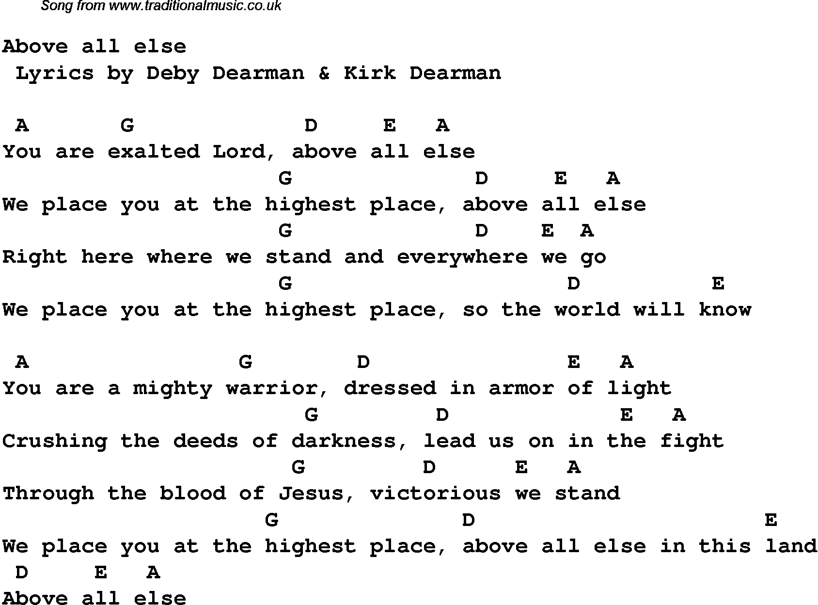 Contemporary christian music worship lyrics chords for above contemporary christian music worship lyrics chords for above hexwebz Image collections