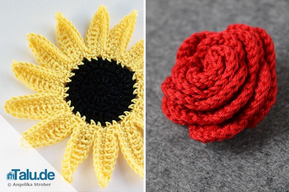 Häkelblumen Anleitung So Häkeln Sie Schöne Blumenrosen Muster