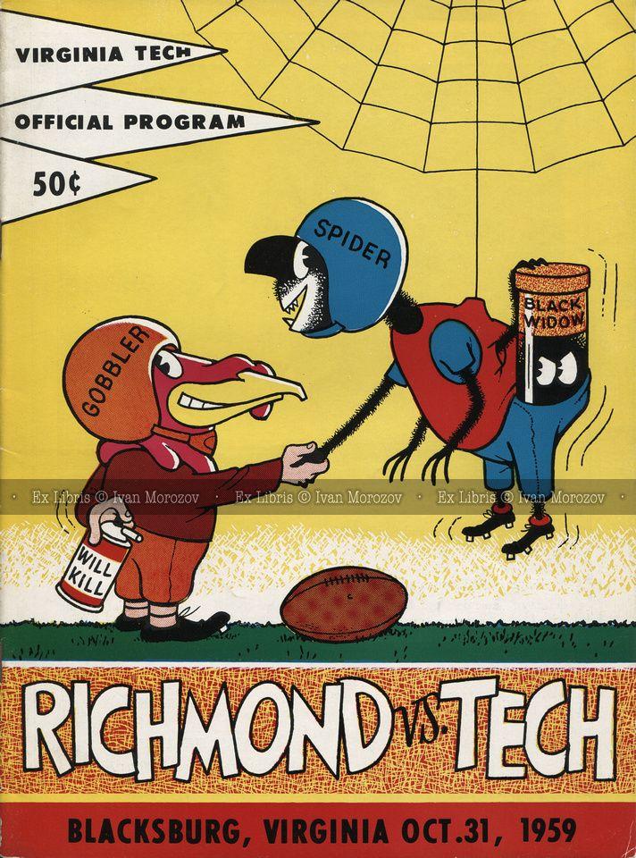 1959.10.31. University of Richmond (Spiders) at Virginia Tech ...