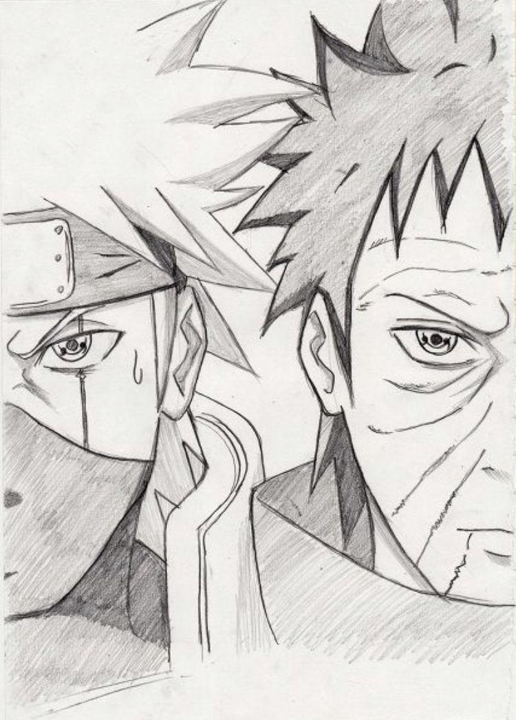 Fans De Naruto Fans De Animes Kakashi Desenho Naruto E Sasuke Desenho Naruto Desenho