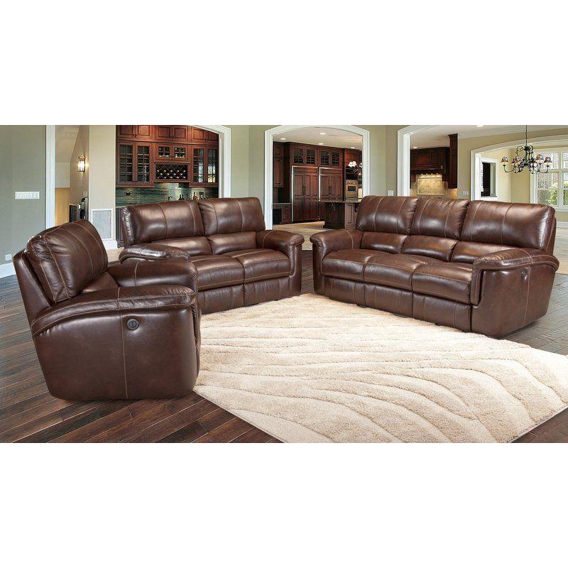 Blair Dual Leather Reclining Sofa In