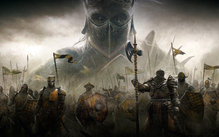 Download Wallpapers For Honor 2017 4k Knights Blackstone Legions Vikings Samurai Besthqwallpapers Com For Honor Gameplay Knight Fantasy Art