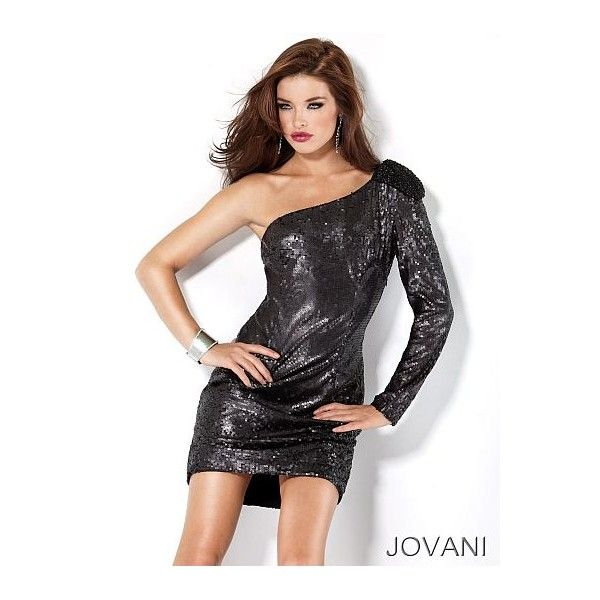 Jovani Short and Cocktail One Strap Sequin Beaded Prom Dress 71981 ...