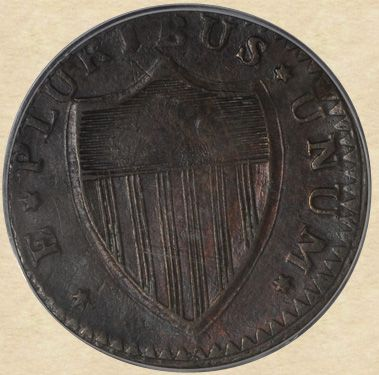 1787 New Jersey Copper reverse