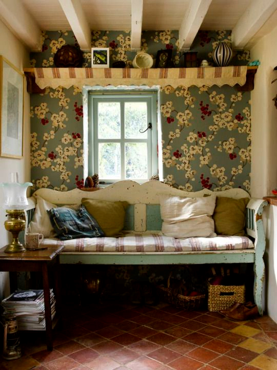 Love this wallpaper and these colors good reading nook house love this wallpaper and these colors good reading nook voltagebd Images
