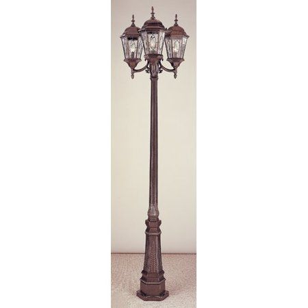 Charlton Home Tucker 3 Light 96 Post Light Granny Lamp Post