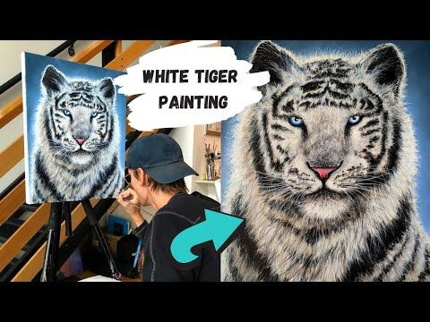 White Tiger Acrylic Painting (ColorByFeliks) - YouTube ...