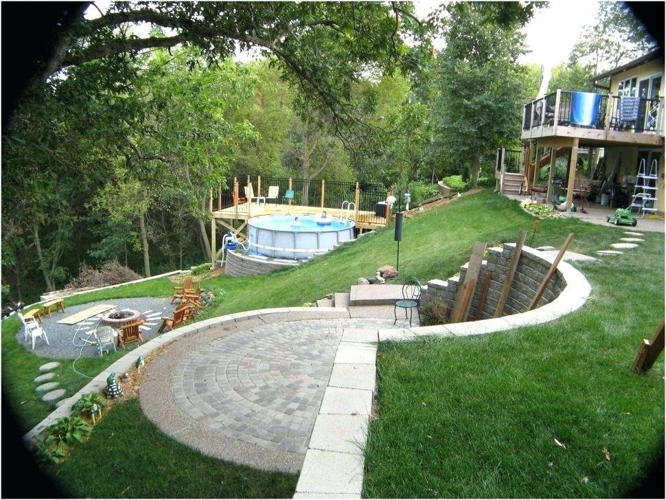 landscaping steep sloped backyard