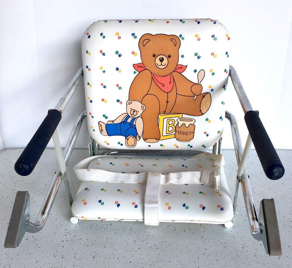Graco Tot Loc Chair Teddy Bear Vintage Portable High Chair