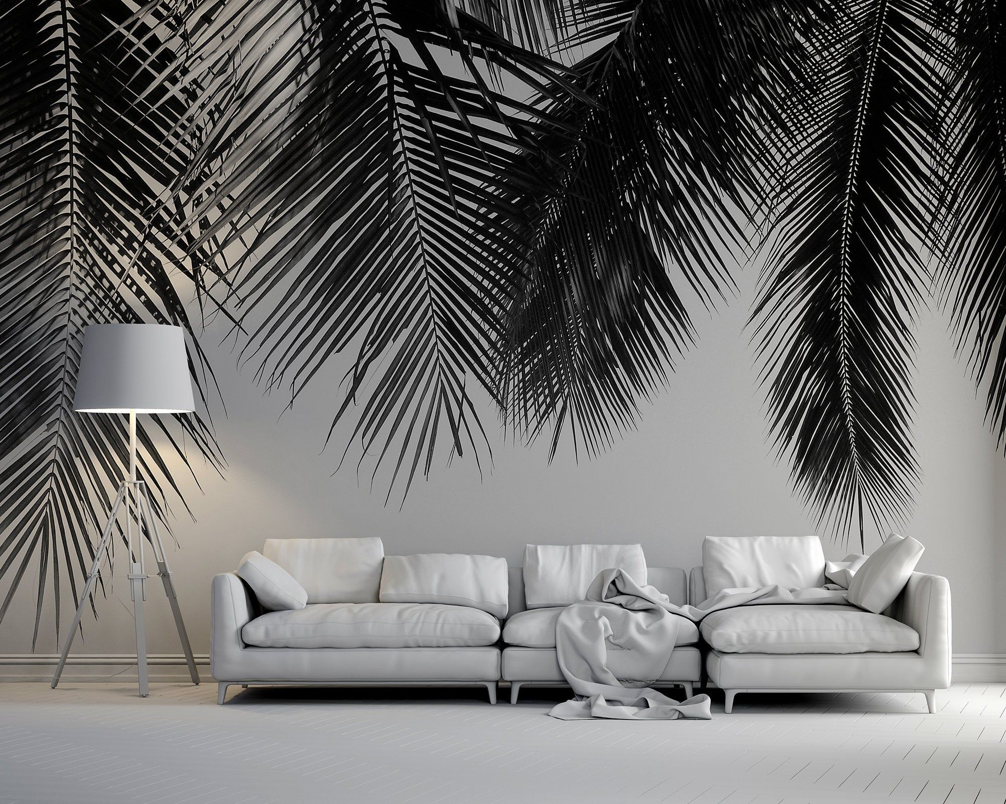 Palm Leaves Hanging From Above Photo Wallpaper Self Adhesive Peel Stick Repositionable Removable Wallpaper Tapeten 3d Tapete Fototapete