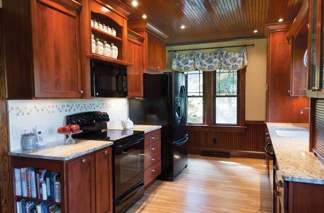 White Galley Kitchen With Black Appliances galley kitchen | house | pinterest | black appliances, kitchen