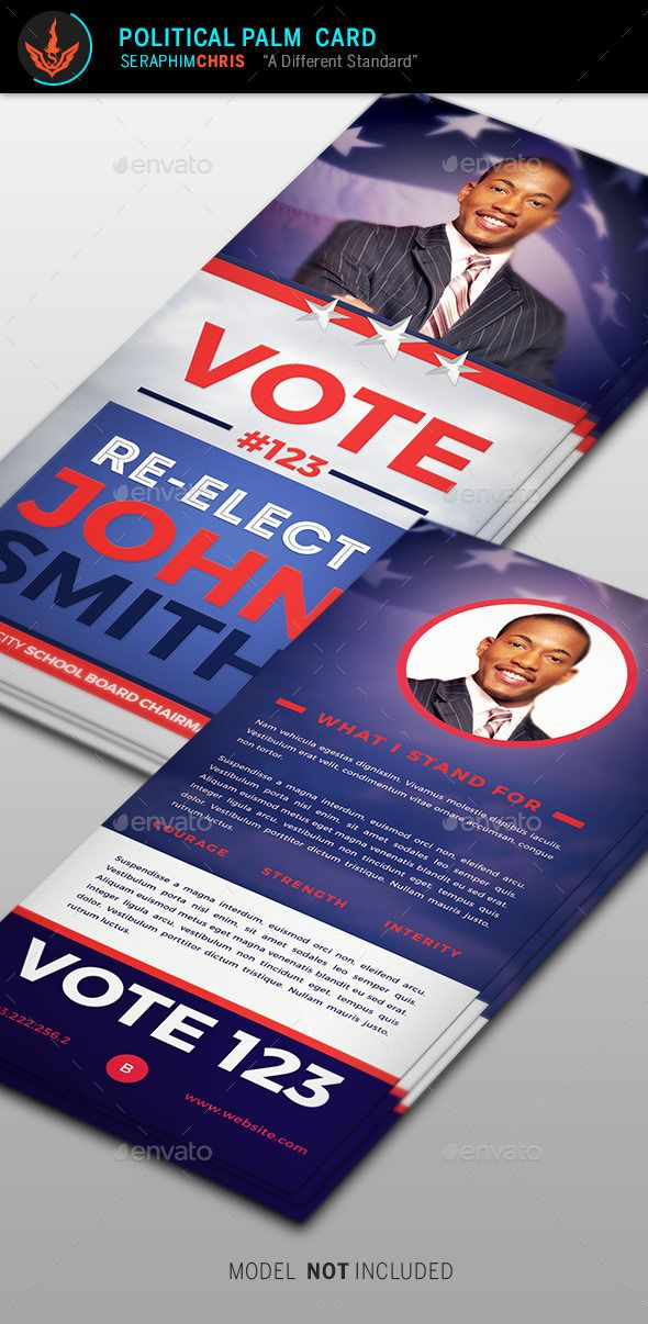 ReElection Palm Card Template  Card Templates Template And