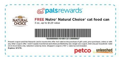 Coupon Free Nutro Natural Choice Cat Food Can At Petco With