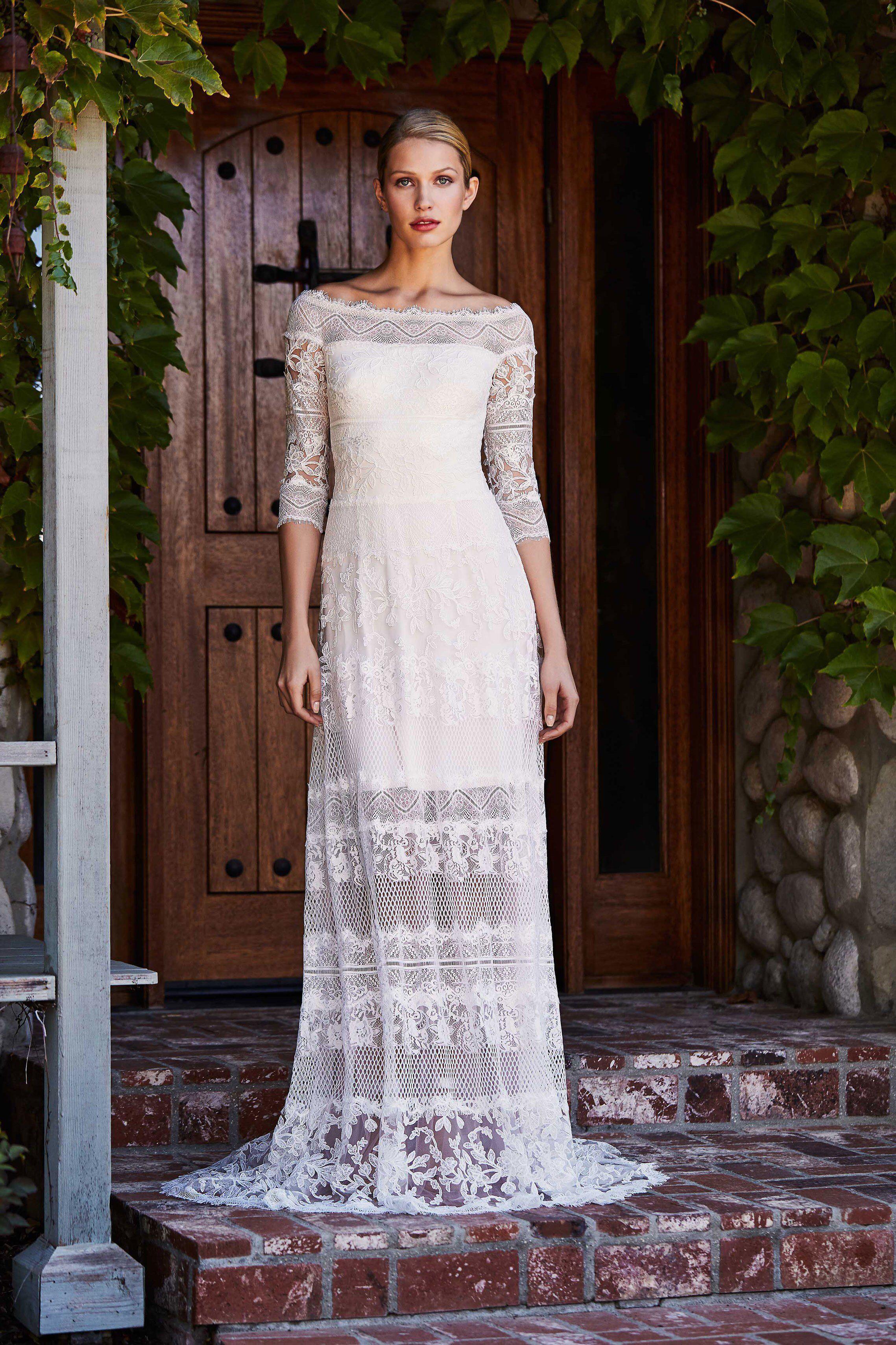 Tadashi shoji bridal fall fashion show collection bridal