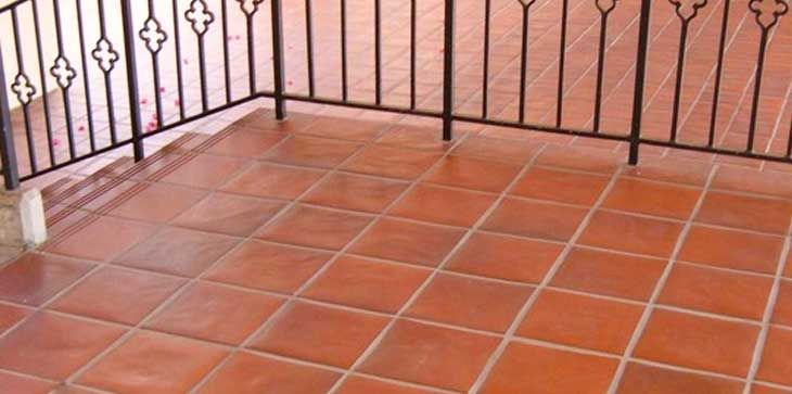 canyon red quarry tile 6x6 kitchen