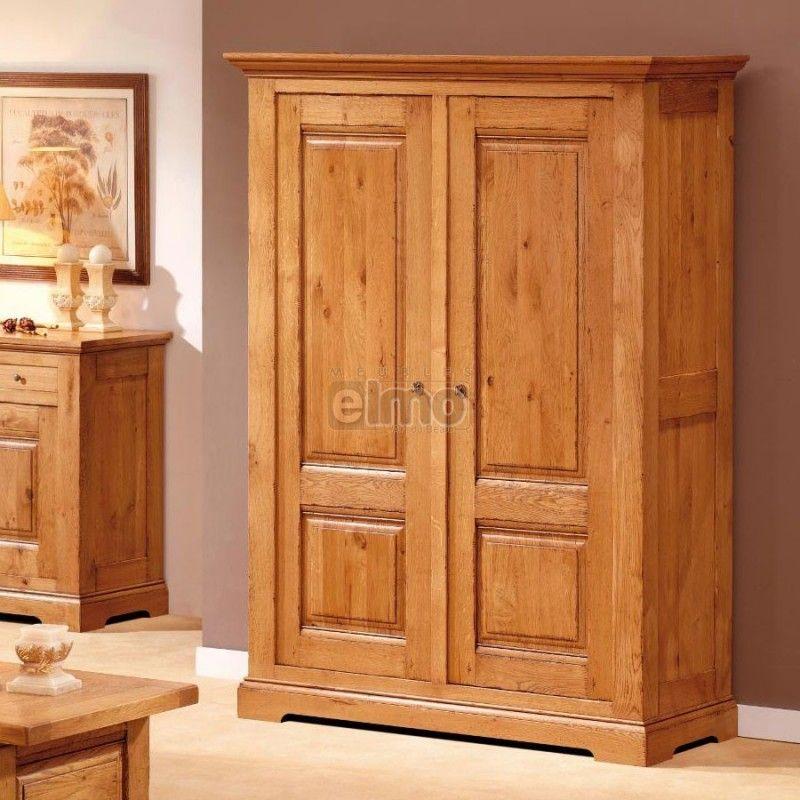 Armoire Penderie Bois Armoire Penderie 2 Portes Chne Massif De France Ou Merisier Massif Armoire Bedroom Design Furniture