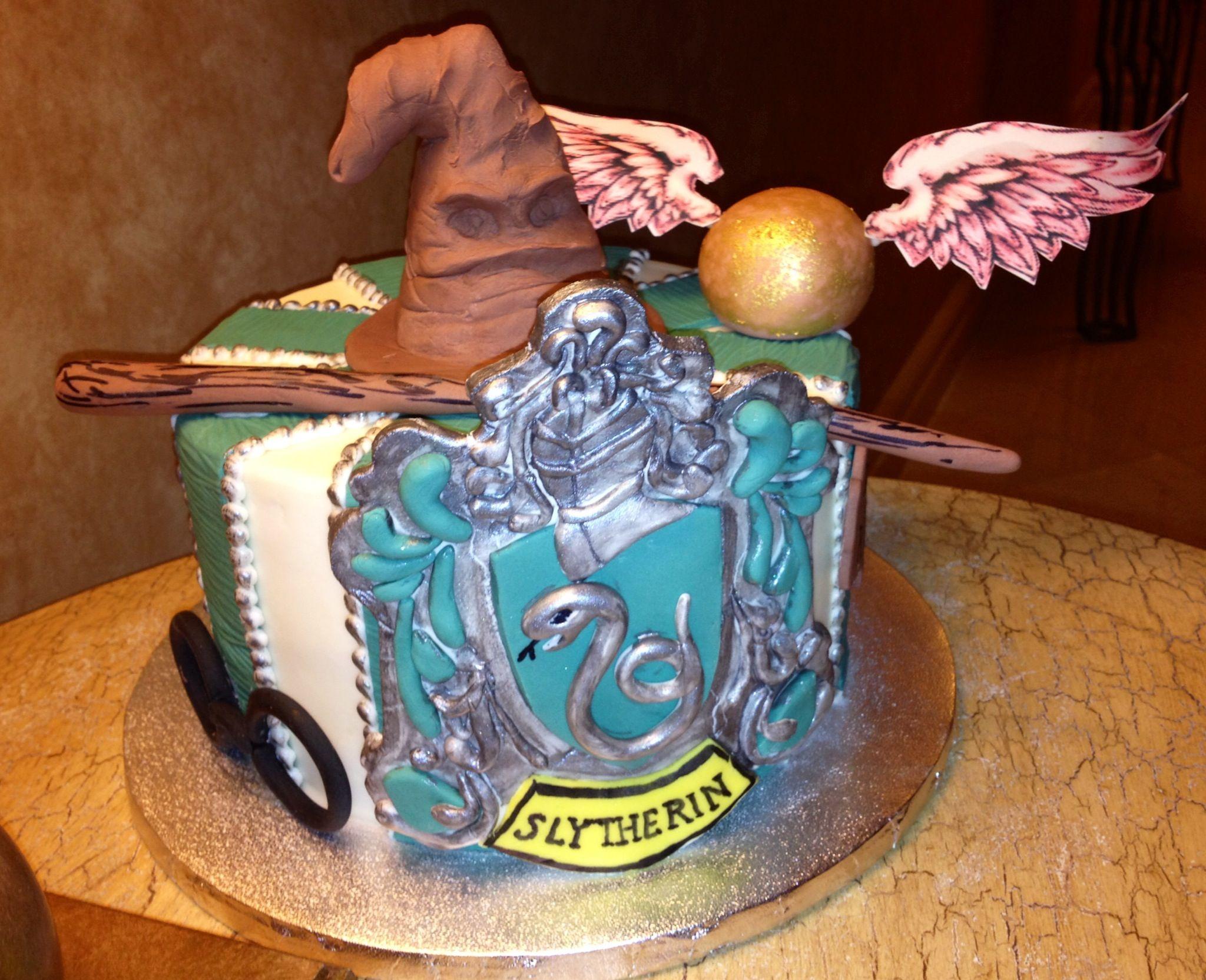 Slytherin Cake Made By My Friend Harrypotter Slytherin Cake