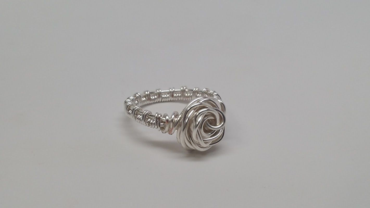 German Style Wire Rose Ring Tutorial | Tutorials | Pinterest | Ring ...