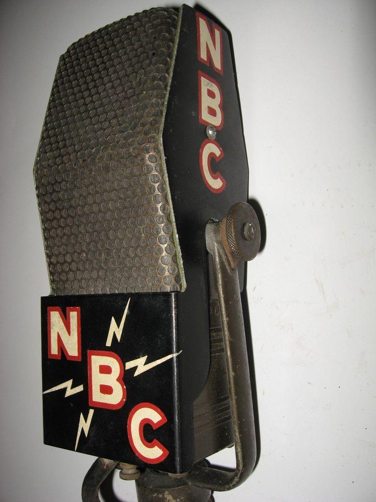 RARE Vintage RCA 44BX Ribbon Microphone NBC 1930's Radio Station Microphone