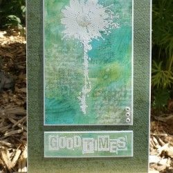 Visible Image stamps - Inky Flower - Good Times - Kim Bacon