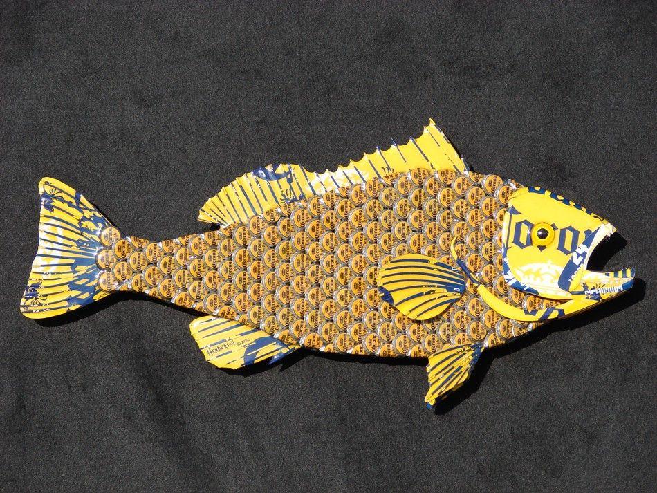 Metal Bottle Cap Fish Wall Art Corona Bottlecap Grouper | Pinterest ...