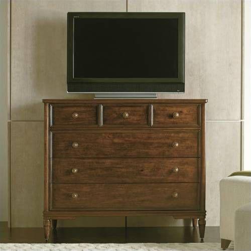 Stanley Furniture Vintage Bedroom Media Chest In Medium Woodtone  Alternative View
