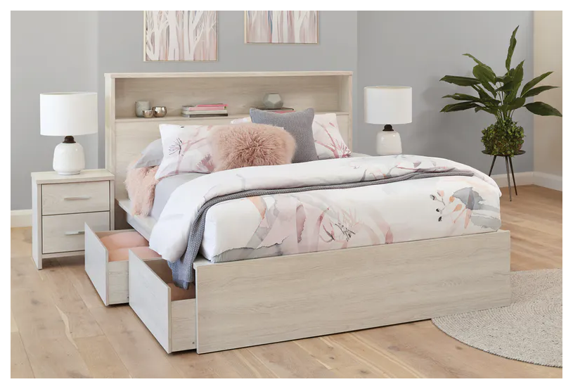 Atlas Queen Bed Frame With Storage Headboard By Platform 10 Queen Bed Frame With Storage Que White Bed Frame Bed Frame With Storage White Queen Bed Frame Cheap queen bed frames with headboard